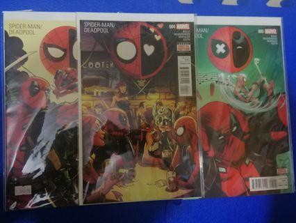 Spiderman and deadpool set #3 #4 #5