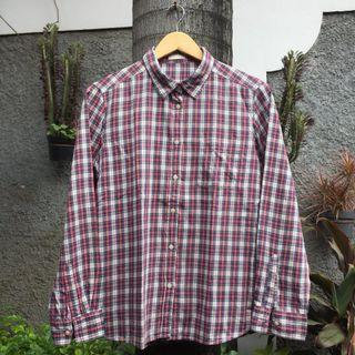 KEMEJA FLANNEL KOTAK2 PLAID BUTTONDOWN SHIRT UNIQLO GU