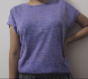 shirt kaos ungu terang purple