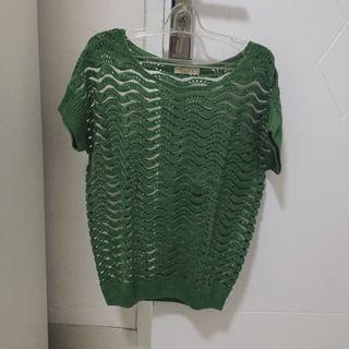 outer hijau green shirt