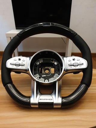 Mercedes AMG Carbon Steering Wheel w LED