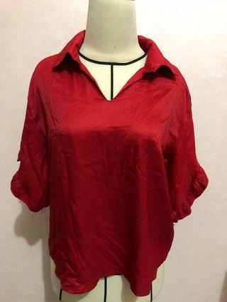 Blouse kerah , blouse polos , atasan wanita