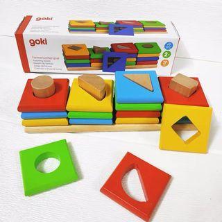 New - Germany Goki wooden puzzle ( shape game/ matching)