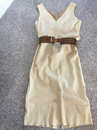 Sally Smith Designer Suede Dress - Size 10/11
