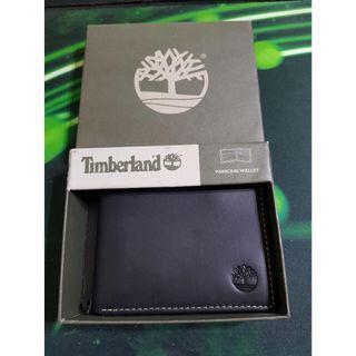【全新】加拿大帶回 Timberland 黑色 霧面 真皮 短皮夾 passcase wallet