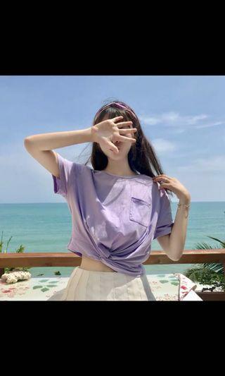 100%全新粉紫色T-shirt