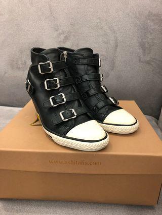 •保證正品•Ash Genial 經典羊皮扣帶楔型休閒鞋