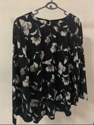 Pre-loved Black Floral Blouse