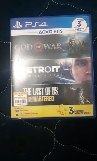 Kaset PS 4 Deroit & God Of War