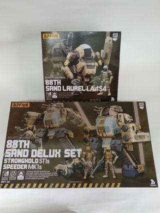 1套2件 88th Sand Deluxe Set (Stronghold ST1s & Speeder MK1s & Laurel La4s4 )2.5吋 B2Five Wave 1 Acid Rain 酸雨戰爭