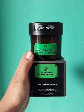 The Body Shop Japanese Matcha Tea Deep Cleansing Mask Masker Green Tea