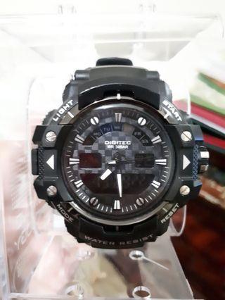 Jam tangan Pria Digitec WR Hitam