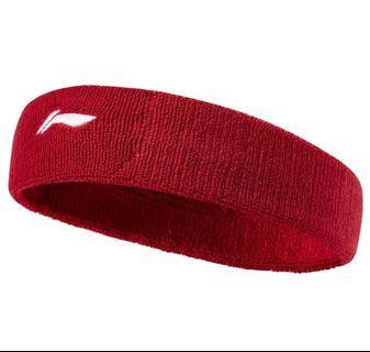 李宁运动发带男女吸汗防汗头巾健身篮球跑步束发护头带导汗止汗带