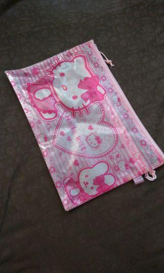 Hello Kitty File Pouch w 2 Zippers