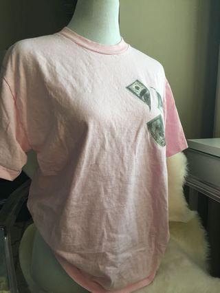 Pink money shirt