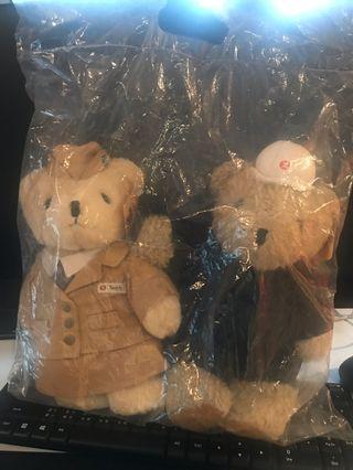 MTR 限量版25cm Teddy Bear 列車大使+技術員