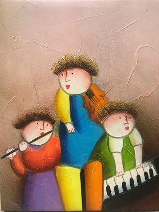 🚚 Oil painting-baby music