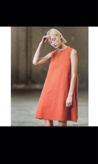 Beyond the vines btv burnt orange dress