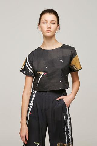 Our Second Nature Dune Cotton Crop Top