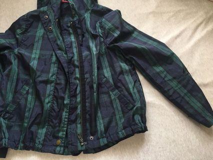 🚚 [yellow8988]格紋防曬外套UV Jacket+黑棉麻背心