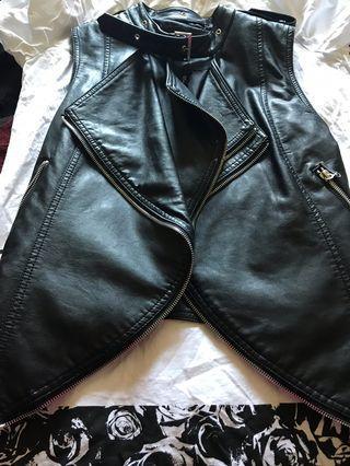David Bitton Leather Vest