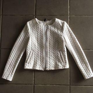Divided White Elegant Outerwear