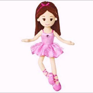 "14.5"" ballerina plush doll toy / ballet girl plushie"