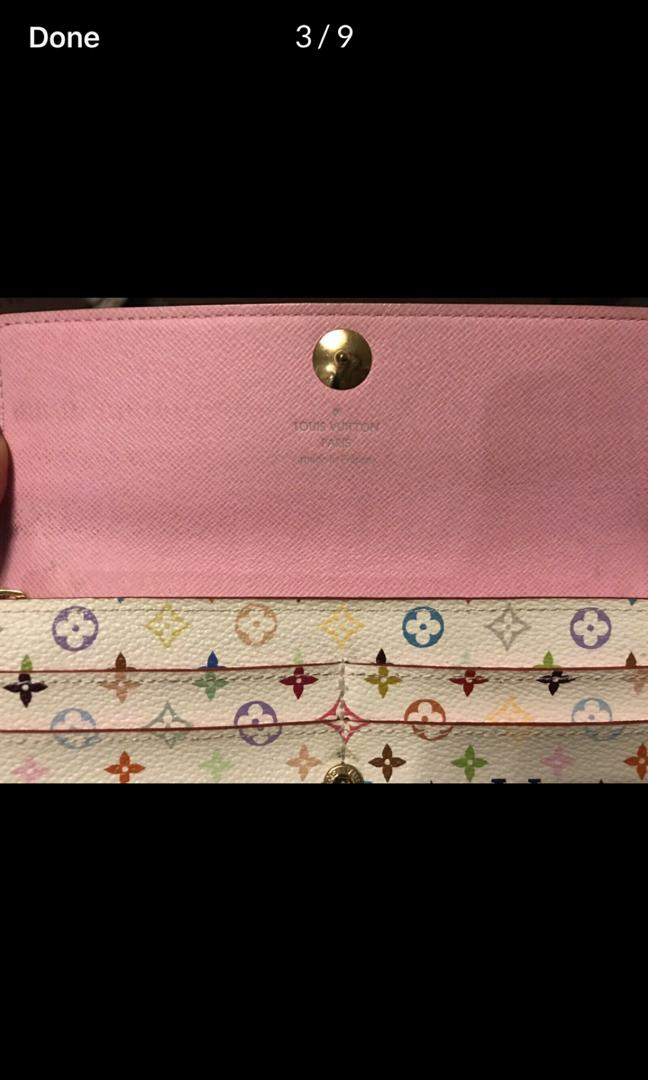 100% Authentic Fullset Louis Vuitton Sarah Wallet Multi Monogram