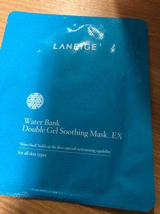 Laneige water bank double gel soothing mask_ex