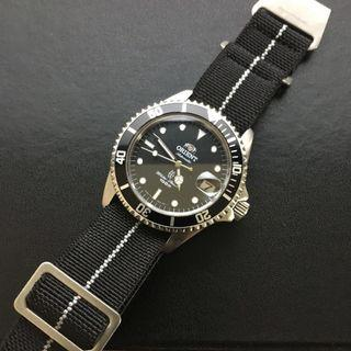 22mm Black & White Military Nationale Nylon Watch Strap