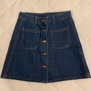 🚚 牛仔短裙深藍