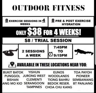 🚚 Outdoor fitness @ S$8 (no hidden cost!!!)