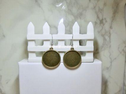 復古圓片造型耳環 垂墜 耳鉤 925鋼印