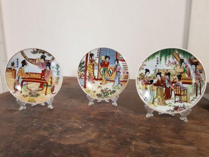 miniature oriental design plate