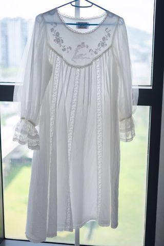 Women White Dress Laced Princess Style