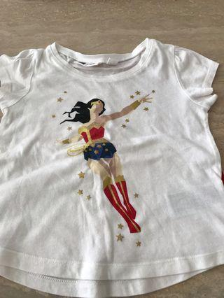 🚚 Baby gap Warner brothers Wonder Woman t-shirt