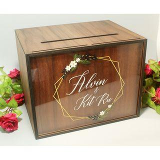 Wedding Angbao Box Walnut Landscape