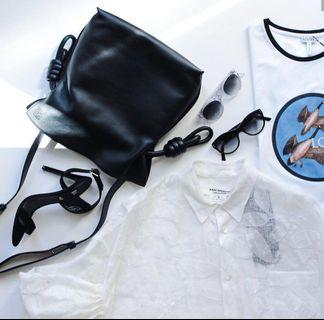 <二手良品> Loewe Flamenco Knot Bag 繩結 斜揹 單肩 包
