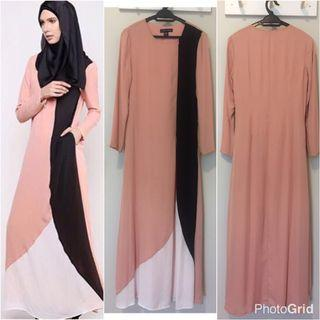 LTD Love to Dress Olloum Lisse Nude Jubah Dress