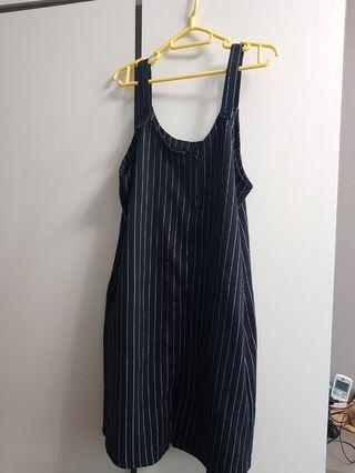 Striped jumpsuit dress