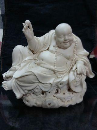 德化白瓷 蘇清河 坐岩戰珠彌勒