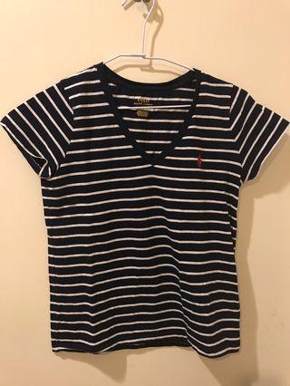 🚚 九成新正版Ralph Lauren  Polo V領T shirt 只穿過1-2次