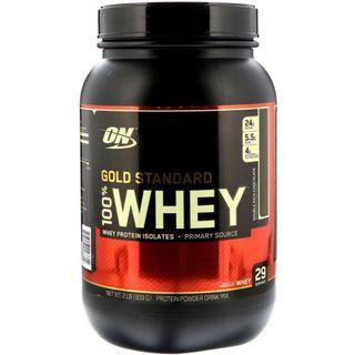 Optimum Nutrition, Gold Standard, 100% Whey, 增肌奶粉/蛋白粉 909g