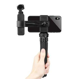 SHOOT XT-528 Handheld Phone Clamp Bracket Extending Tripod for DJI OSMO Pocket Camera Gimbal
