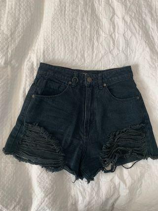 Neuw denim shorts black
