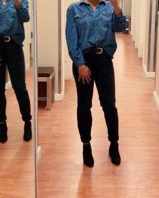 Black High-waisted Vintage Jeans