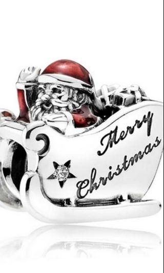 Pandora Christmas Santa Charm