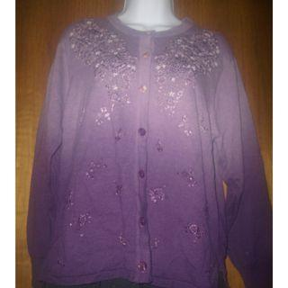 Lilac/ Lavender/Purple Ladies Pearl Embroidered Blouse
