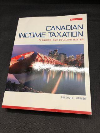 Canadian Income Taxation Textbook 2018-2019 Edition