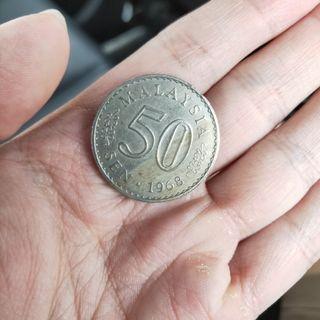 Duit Syiling Lama 50sen 1968